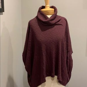 Free people ribbed cowl neck top